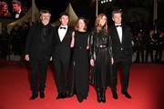 """(L-R) Christophe Honore, Vincent Lacoste, Camille Cottin, Chiara Mastroianni and Benjamin Biolay attend the screening of """"Diego Maradona"""" during the 72nd annual Cannes Film Festival on May 19, 2019 in Cannes, France."""