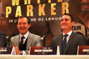 David Higgins speaks to the media during the Dillian Whyte and Joseph Parker Press Conference at The Dorchester Hotel on June 7, 2018 in London, England.
