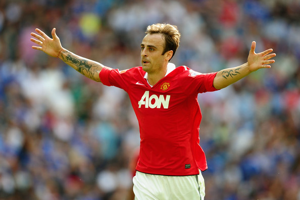 Dimitar Berbatov Dimitar Berbatov of Manchester United celebrates as he