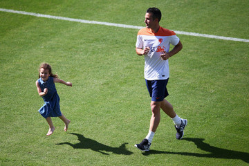 Dina Layla van Persie Netherlands Training & Press Conference - 2014 FIFA World Cup Brazil