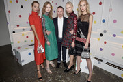 (L-R) Daphne Groeneveld, Julie Hoomans, Peter Philips, Jessie Bloemendaal, and Maartje Verhoef attend Dior Beauty celebrates The Art of Color with Peter Philips on October 25, 2016 in New York City.