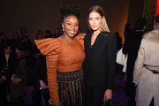 Chimamanda Ngozi Adichie and Doutzen Kroes attend the Dior Haute Couture Spring/Summer 2020 show as part of Paris Fashion Week on January 20, 2020 in Paris, France.