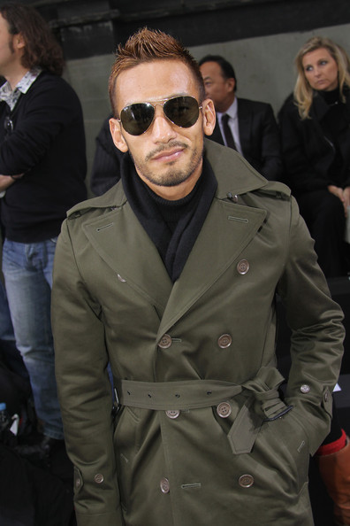 Hidetoshi Nakata attends the Dior Homme fashion show as part of Paris Menswear Fashion Week Fall/Winter 2011-2012 on January 22, 2011 in Paris, France.