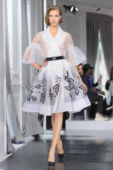 Karlie Kloss walks the runway during the Dior Haute-Couture 2012 show as part of Paris Fashion Week at Salons Christian Dior on January 23, 2012 in Paris, France.