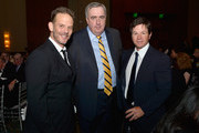 (L-R) Director Peter Berg, former Boston Police Commissioner Ed Davis and Boston's own Mark Wahlberg attend the 3rd annual Boston Police Department Foundation Gala to present THE HERO'S AWARD to BPD Officer John Moynihan on March 5, 2016 in Boston, Massachusetts.