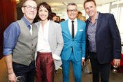 (L-R) Ted Allen, Paige Davis, Randy Fenoli, and Marc Murphy attend Discovery Inc. 2019 NYC Upfront at Alice Tully Hall on April 10, 2019 in New York City.