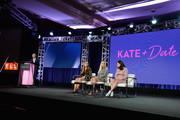 (L-R) President & General Manager, TLC Howard Lee, Cara Gosselin, Kate Gosselin and Mady Gosselin of 'Kate Plus Date' speak onstage during the TLC portion of the Discovery Communications Winter 2019 TCA Tour at the Langham Hotel on February 12, 2019 in Pasadena, California.