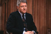 UNITED STATES - 1992, Bill Clinton talks with  'Good Morning America',  television host Charles Gibson 1992.