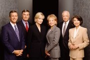 """ABC (9/22/98)--20/20--(More images available on abcmedianet.com)--""""20/20"""" will combine hard-hitting investigative reports, newsmaker interviews, compelling human interest and feature stories.  Diane Sawyer and Sam Donaldson will anchor """"20/20 WEDNESDAY,"""" at 10:00 p.m.;  Barbara Walters and Hugh Downs will anchor """"20/20"""" FRIDAY,"""" at 10:00 p.m.; and Barbara Walters and Diane Sawyer will anchor """"20/20 SUNDAY"""" at 9:00 p.m.  Connie Chung and Charles Gibson will substitute anchor for the program and each will anchor an additional night as soon as the broadcast expands further.  Pictured here: (l-r) Charles Gibson, Sam Donaldson, Diane Sawyer, Barbara Walters, Hugh Downs, Connie Chung.  Photo credit:  Michael O'Neill/ABC News"""