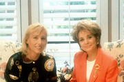 """20/20 - 7/25/91 .Barbara Walters interviewed tennis great Martina Navratilova on ABC News' """"20/20"""" airing on the ABC Television Network. .(Photo by ABC Photo Archives via Getty Images)  .MARTINA NAVRATILOVA, BARBARA WALTERS"""