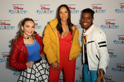 Isabella Newhuis, Dania Ramrirez and Alex Allen attend Disney On Ice Presents Mickey's Search Party Holiday Celebrity Skating Event at Staples Center on December 13, 2019 in Los Angeles, California.