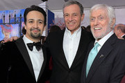 (L-R) Actor Lin-Manuel Miranda, The Walt Disney Company Chairman and CEO Bob Iger, and Actor Dick Van Dyke attend Disney's 'Mary Poppins Returns' World Premiere at the Dolby Theatre on November 29, 2018 in Hollywood, California.