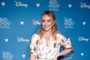 Hilary Duff of 'Lizzie McGuire' took part today in the Disney+ Showcase at Disney's D23 EXPO 2019 in Anaheim, Calif.  'Lizzie McGuire' will stream exclusively on Disney+, which launches November 12.