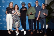 (L-R) Producer Dana Leigh Murray, Tina Fey, Jamie Foxx, Co-Director Kemp Powers, Director Pete Docter, and writer Mike Jones of 'Soul' took part today in the Walt Disney Studios presentation at Disney's D23 EXPO 2019 in Anaheim, Calif.  'Soul' will be released in U.S. theaters on June 19, 2020.