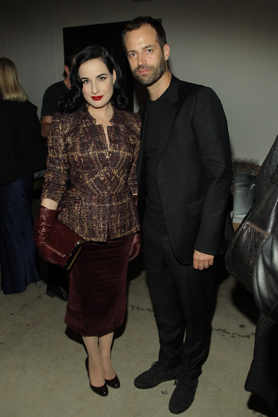 Photo of Benjamin Millepied & his friend celebrity  Dita Von Teese - Cast of Torrente