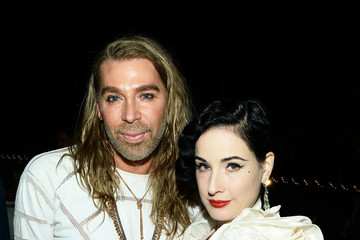 Dita Von Teese Chaz Dean Denim, Diamond & Gold Summer Party Benefiting Love Is Louder