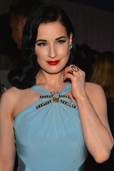 Dita Von Teese - amfAR Inspiration Miami Beach Party - Inside