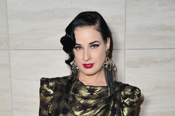 Dita Von Teese Flaunt Magazine and Luisaviaroma Celebrate the Contributors' Launch of the CALIFUK Issue at Milk Studios, Hollywood
