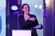 Suranne Jones presents Broadcaster of the year award at the Diva Awards 2019 at The Waldorf Hilton Hotel on June 07, 2019 in London, England.