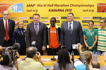 Dobromir Karamarinov 20th IAAF World Half Marathon Championships - Press Conference