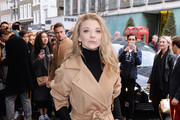"""Natalie Dormer arrives for the gala night performance of """"Doctor Faustus"""" at Duke Of York's Theatre on April 25, 2016 in London, Englan"""