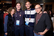 (L-R) HBO Documentary Films VP Sara Bernstein, directors Ben Cotner and Ryan White and actor Evan Handler attend the Documentary Films Sundance Party on January 19, 2014 in Park City, Utah.