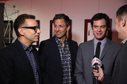 """(L-R) Fred Armisen, Seth Meyers and Bill Hader attend the New York screening for """"Documentary Now!"""" at New World Stages on August 18, 2015 in New York City."""