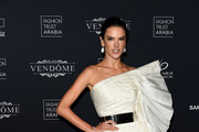 Alessandra Ambrosio attends Fashion Trust Arabia Gala at the Fire Station on March 28, 2019 in Doha, Qatar.