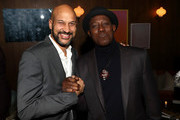 Keegan-Michael Key and Wesley Snipes attend the Dolemite Is My Name! LA Tastemaker at Soho House on January 03, 2020 in West Hollywood, California.