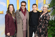 "(L-R) Susan Downey, Robert Downey Jr, Tom Holland and Emma Thompson attend the ""Dolittle"" special screening at Cineworld Leicester Square on January 25, 2020 in London, England."