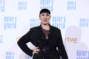 Rossy de Palma attends 'Dolor y Gloria' premiere at the Capitol cinema on March 13, 2019 in Madrid, Spain.