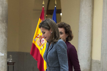 Dolors Montserrat Queen Letizia Meets Council of The Royal Board of Disability and Delivers 'Reina Letizia' Awards