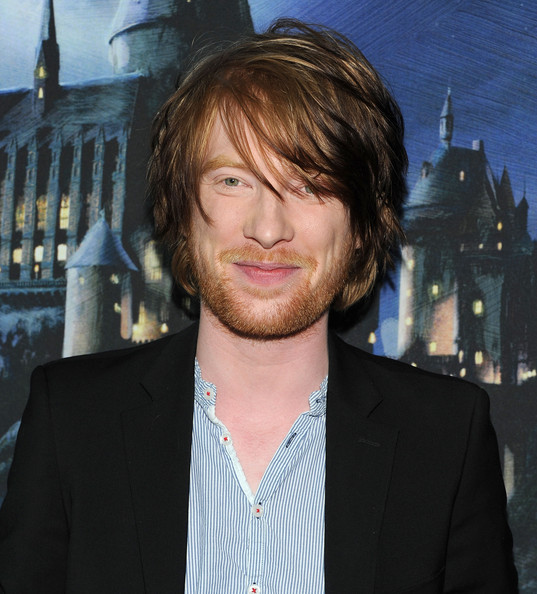 Domhnall Gleeson Actor Domhnall Gleeson attends the grand opening of Harry Potter: The Exhibition at Discovery Times Square Exposition Center on April 4, 2011 in New York City.