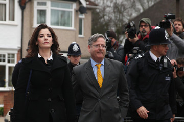 Dominic Lawson Nigella Lawson Arrives at Court in London