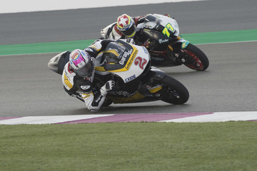 Dominique Aegerter Moto2 And Moto3 Tests In Losail