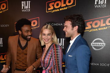 Donald Glover Emilia Clarke FIJI Water With The Cinema Society Host A Screening Of 'Solo: A Star Wars Story'