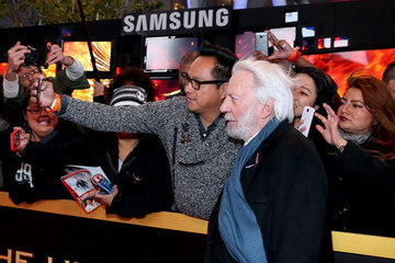 Donald Sutherland Samsung Celebrates the Premiere of 'The Hunger Games: Mockingjay - Part 2'