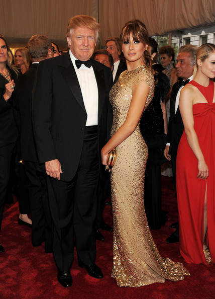 "Donald Trump Donald Trump and Melania Knauss-Trump attend the ""Alexander McQueen: Savage Beauty"" Costume Institute Gala at The Metropolitan Museum of Art on May 2, 2011 in New York City."