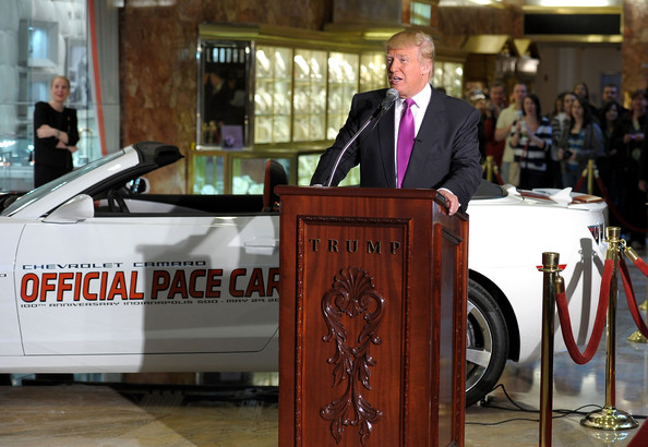 Donald Trump - Donald Trump Named Celebrity Pace Car Driver for 100th ...