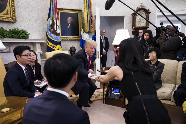 Donald Trump And Lee Hyeonseo Photos Photos Zimbio