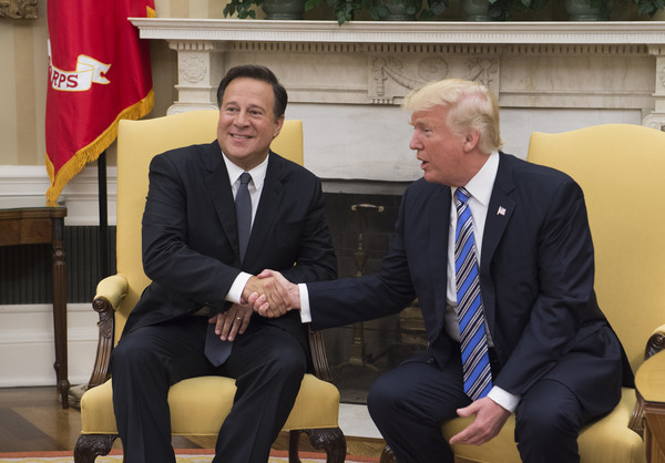 President Trump Hosts Panamanian President Varela at the White House