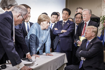 Donald Trump Shinzo Abe Heads Of State Attend G7 Meeting - Day Two