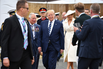 Donald Trump British D-Day Commemoration In Portsmouth