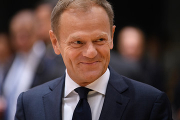 Donald Tusk Delegates Attend the European Council Meeting in Brussels - Day Two