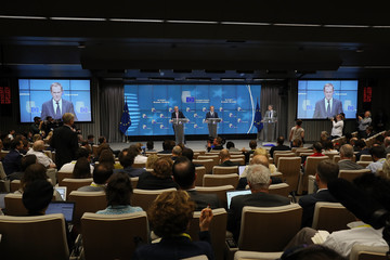 Donald Tusk Leaders Meet in Brussels for European Council Meeting - Day One