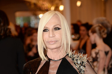 Donatella Versace Red Carpet Arrivals at the Met Gala