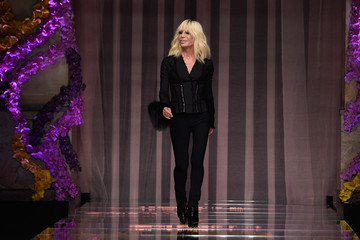 Donatella Versace Models Walk for Atelier Versace During Paris Fashion Week