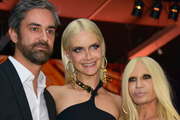 Donatella Versace Front Row at Versace for Riachuelo
