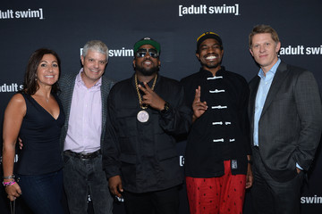 Donna Speciale David Levy 2014 Adult Swim Upfront Party