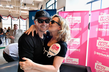 Donnie Wahlberg Jenny McCarthy Hosts Her SiriusXM Show Backstage at Fenway Park in Boston
